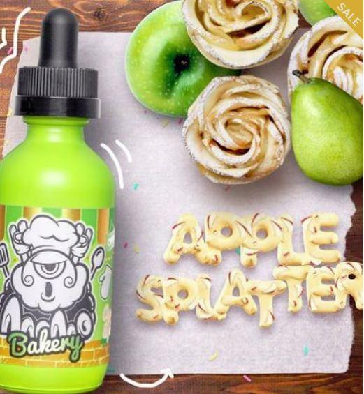 Apple Splatter 50ml – £5.99 by Momo Bakery Range