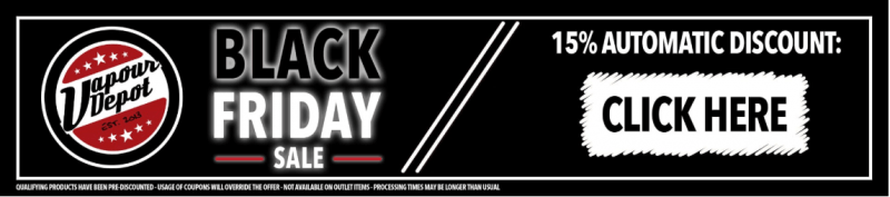 15% Off At Vapour Depot Black Friday Vape Deals