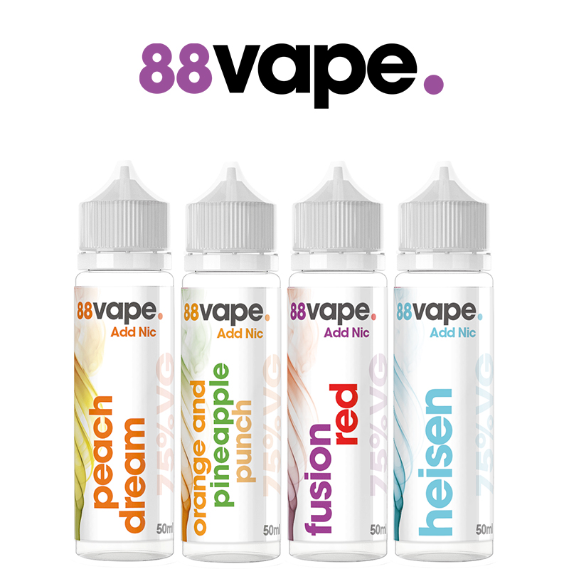 88 Vape 50ml E-Liquid Shortfill – £3.99