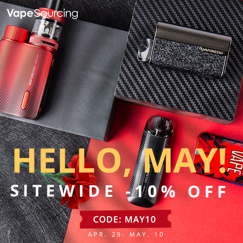10% OFF Vapesourcing May Day Sale