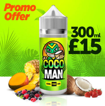 Coco Man 300ml Eliquid – £15.00