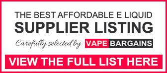 Cheapest E-Liquid List
