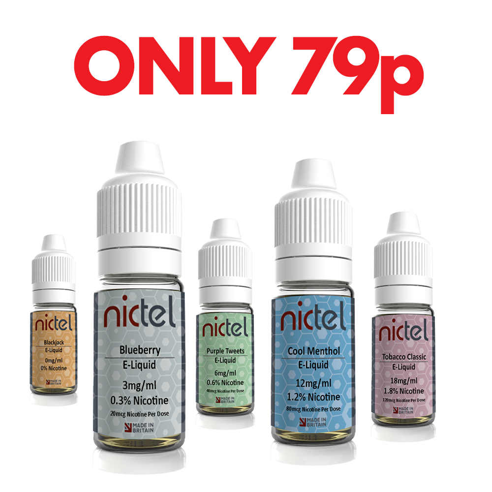 Nictel 10ml E-Liquid – £0.79