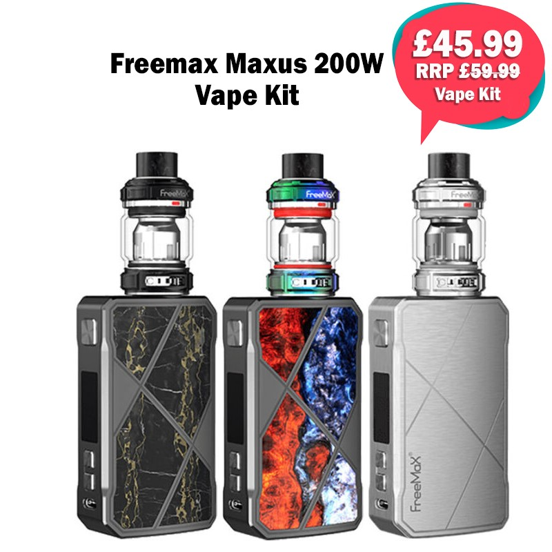 Freemax Maxus 200w Vape Kit – £45.99