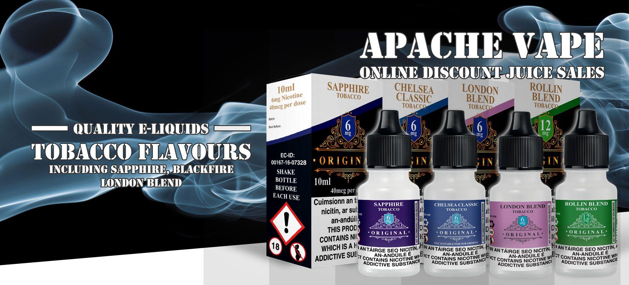 Originals Tobacco 10ml E-Liquids – £1.25