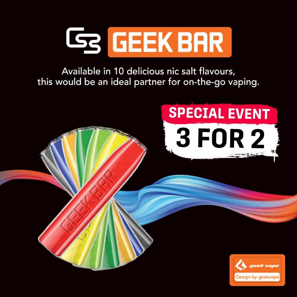 Geek Bar 3x Pods – £11.88
