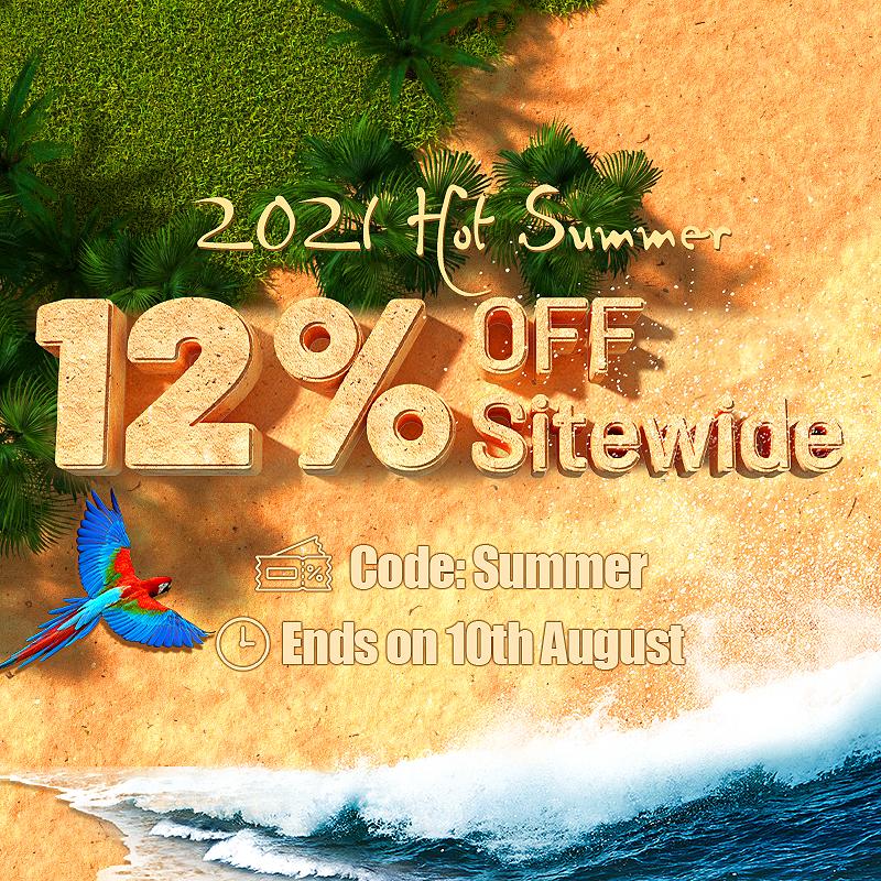 12% OFF Sitewide Summer Sale