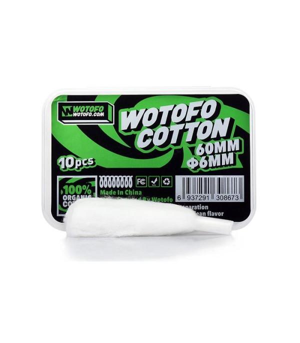 Wotofo Οργανικό Βαμβάκι Agleted 6mm