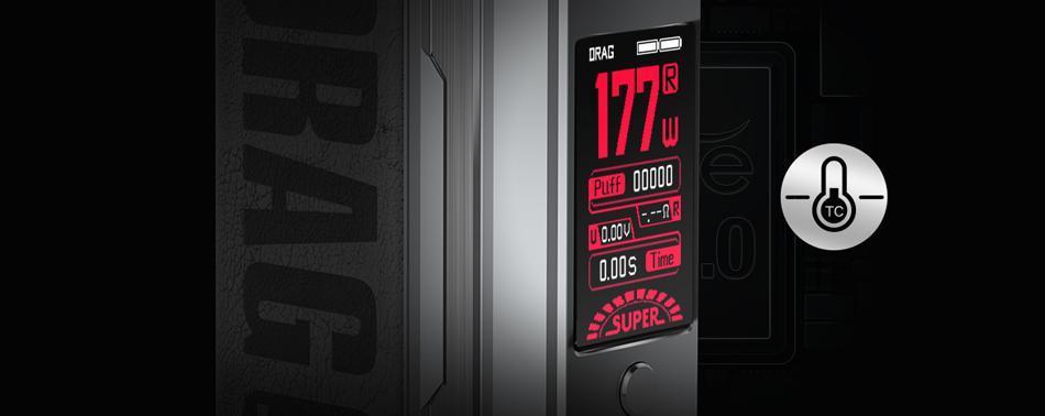 Λειτουργία ελέγχου θερμοκρασίας Voopoo Drag 3 177w