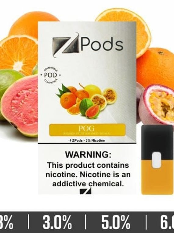 POG Ziip Pods for Juul Devices pack of 4