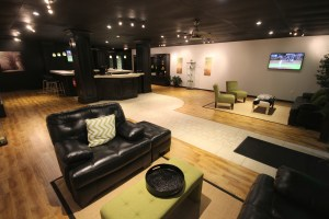 View from inside our store including comfortable sitting areas, TV entertainment, and a fine assortment of the best vape products available