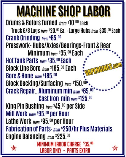 Brake Drums and Rotors Turned-Pricing