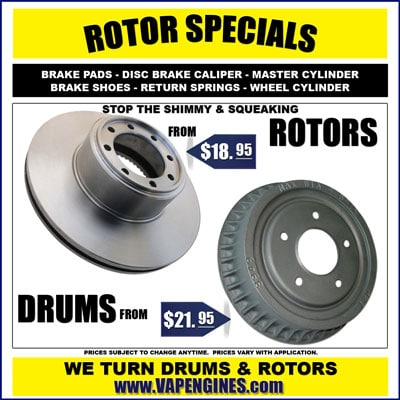 Brake Drums and Rotors for sale