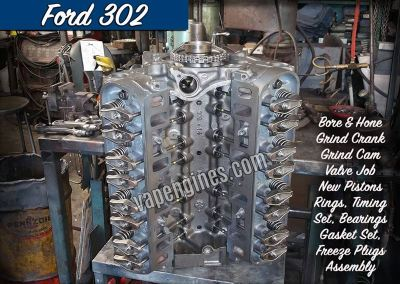 Ford 302 Engine Rebuilding