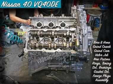 Nissan 4.0 VQ40DE Engine Rebuild Machine Shop