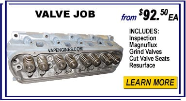 Cylinder head valve job repair shop