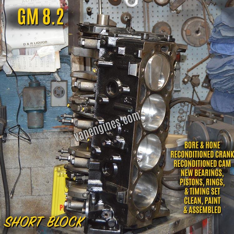 GM 8.2 Remanufactured Short Block Engine