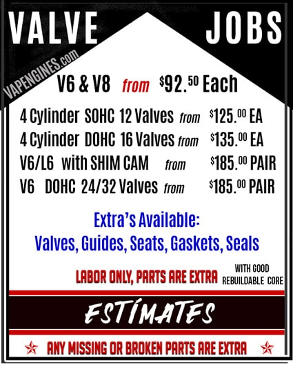 Los Angeles Cylinder Head Valve Job Repair Shop.