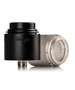 TEMPLE RDA 2020 EDITION 28MM BY VAPERZ CLOUD MATTE BLACK