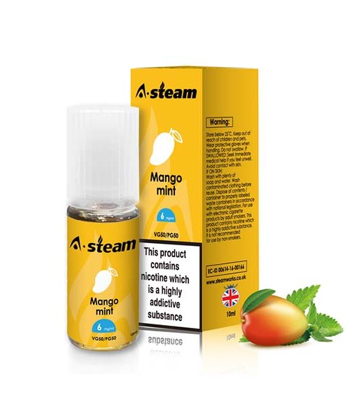 Mango Mint 10ml E-liquid By A-steam