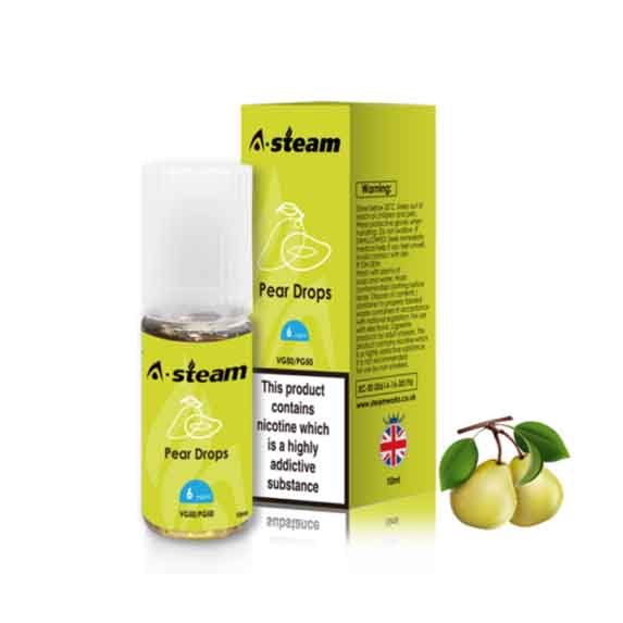 Pear Drops 10ml E-liquid By A-steam