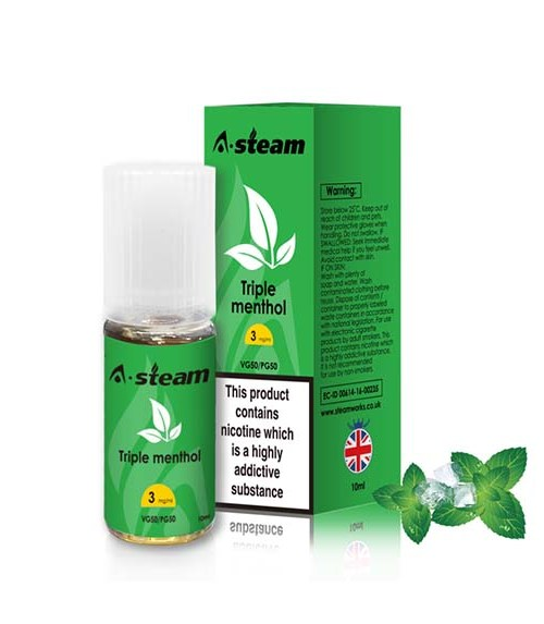 Triple Menthol 10ml E-liquid By A-steam
