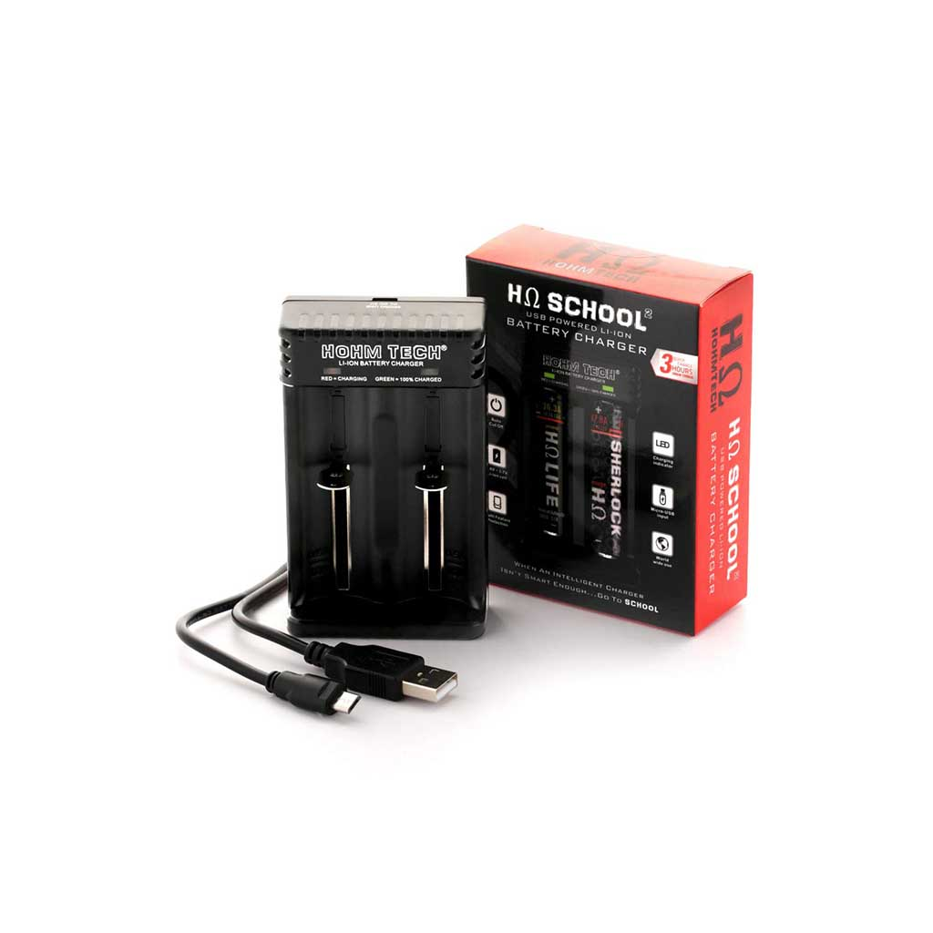 Hohm School 2 Bay Battery Charger