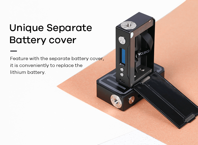 VOOPOO DRAG Mod separate battery cover