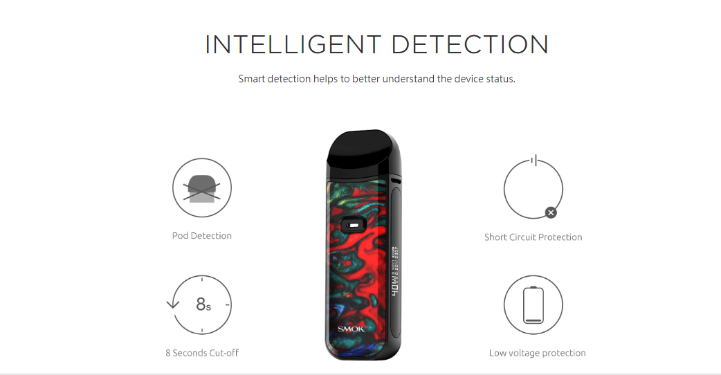 Smok Nord 2 Intelligent Detection