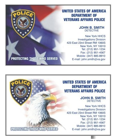 VA Police Business Cards