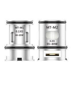 MT-M2 0.2ohm Dual Mesh Coil diseñada para funcionar entre 60w a 85w.