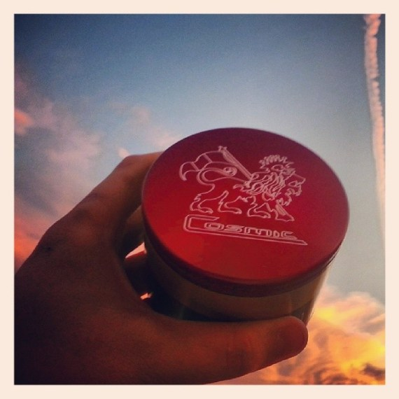 Cosmic Rasta Grinder Taking In The Sunset!