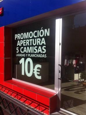 Promoción apertura Lavandería Tintorería VAPORTI Don Benito (Badajoz)