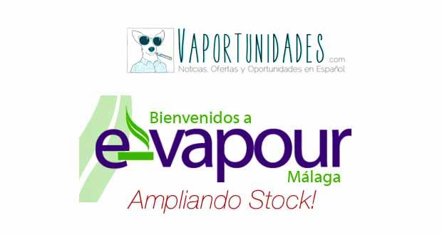 evapourmalaga amplia stock