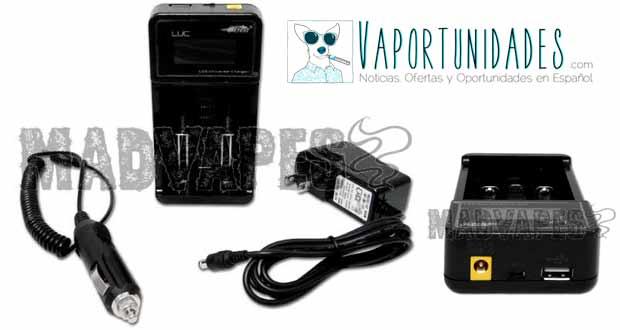 madvapes efest luc charger cargador baterias cigarrillos electronicos