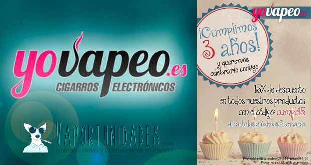 yovapeo oferta 15 aniversario cumpleanos oportunidad tienda espana barato