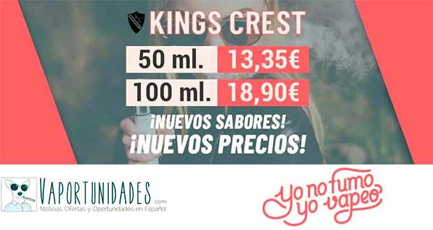 Kings Crest - Bajada de precios en YoNoFumoYoVapeo
