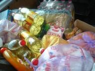 Grundnahrungsmittel für die Familien