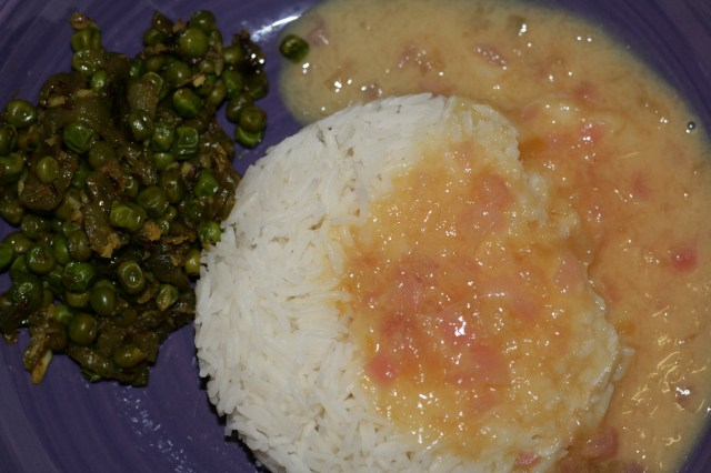 Khaaravni or Raw Mango curry