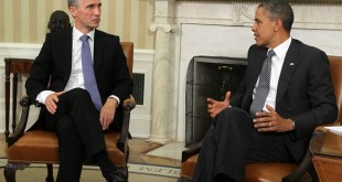 Jens Stoltenberg og Barack Obama á fundi í Hvíta húsinu.