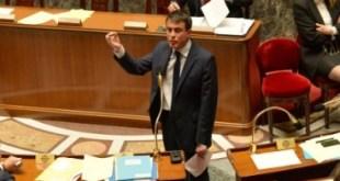 Manuel Valls forsætisráherra í neðri deild franska þingsins.