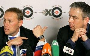 Andreij Lugovoy (t.v.) og Dmitríj Kovtun.