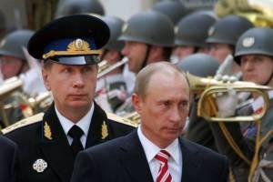 Vladimir Pútín og Viktor Zolotov.