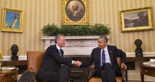 Jens Stoltenberg og Barack Obama í Hvíta húsinu.