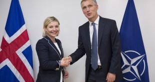 Lilja D. Alfreðsdóttir utanríkisráðherra og Jens Stoltenberg, framkvæmdastjóri NATO.