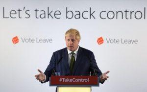 Boris Johnson flytur ræðu gegn ESB-aðild