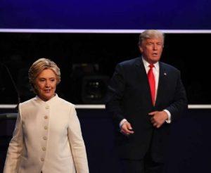 Hillary Clinton og Donald Trump - kappræðurnar miðvikudag 19. október.