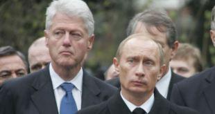Bill Clinton og Vladimir Pútin.