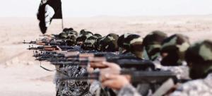 Vígamenn Daesh sjást hér á æfingu á þessari áróðursmynd samtakanna.