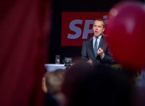 Jafnaðarmaðurinn (SPÖ) Christian Kern, kanslari Austurríkis, á kosningafundi.